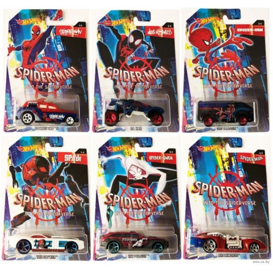 Hot Wheels Arabalar Ozel Spider Man Serisi Offiste Bir Tikla