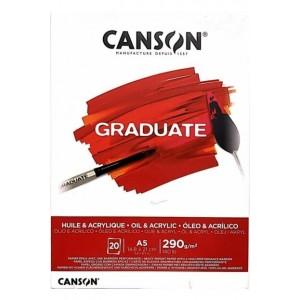 CANSON GRADUATE AKRİLİK - YAĞLIBOYA DEFTERİ 290GR A5 20 YAPRAK