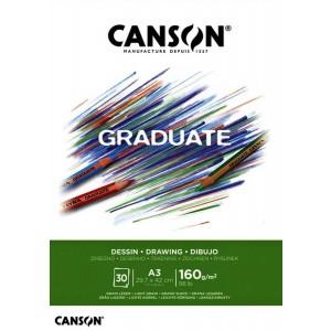 Canson Çizim Bloğu Graduate Dessın Beyaz 30 Sy A3 160 Gr