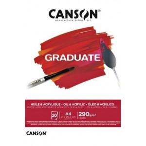 CANSON GRADUATE AKRİLİK - YAĞLIBOYA DEFTERİ 290GR A4 20 YAPRAK