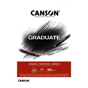 CANSON ESKİZ BLOĞU GRADUATE CROQUIS 40 SY A3 96 GR