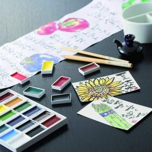 Zig Kuretake Gansai Tambi Profesyonel Japon Sulu Boya 12 Renk