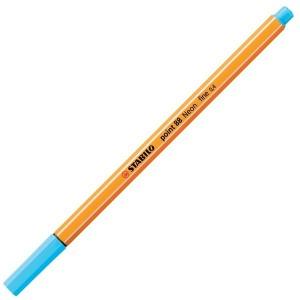 Stabilo Point 88 İnce Uç Keçeli Kalem 0.4 mm Florasan Mavi 88/031