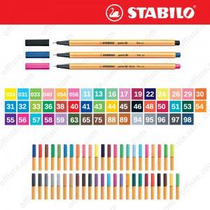 Stabilo Point 88 İnce Uç Keçeli Kalem Fine 0.4 mm Zengin Renkler