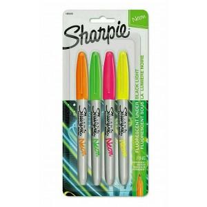 Sharpie Permanent  Markör Neon Renkler 4'lü