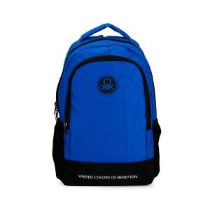 Benetton Mavi Siyah Okul Sırt Çantası 96004
