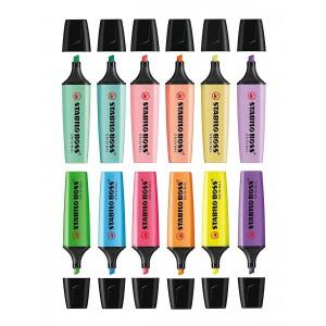 6 Pastel 6 Canlı Renk Stabilo Boss 12'li Set