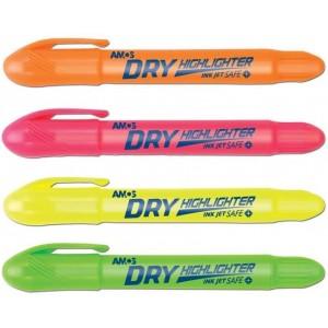Amos Dry Highlighter Jel Fosforlu Kalem 4 Renk