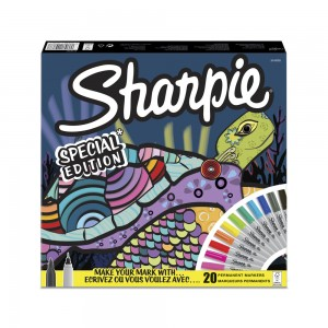 Sharpie Fine Permanenet Markör 20'li Kaplumbağa