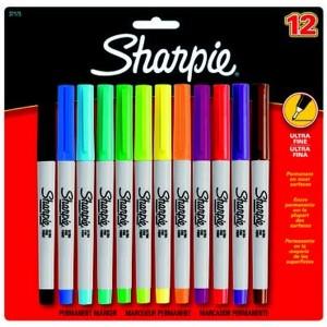 Sharpie Ultra Fine, Süper Ince Uç, 12'Li Karışık Bls