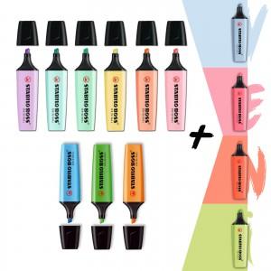 Stabilo Boss 4 Yeni Pastel + 6 Pastel + 3 Canlı Renk  13'lü Set