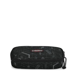 EASTPAK OVAL SİNGLE BLOCKS BLACK KALEM ÇANTASI