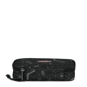 Eastpak Oval Single Blocks Black Kalem Çantası