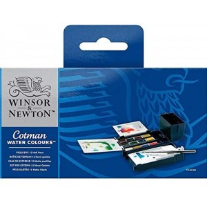 Winsor & Newton  390 639 COTMAN SULUBOYA SET-12 Lİ FIELD BOX