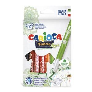 Carioca Fabric Liner 10'lu Fine Tekstil Kalem Seti