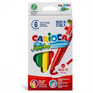 Carioca Jumbo Süper Yıkanabilir Keçeli Boya Kalemi 6'Li