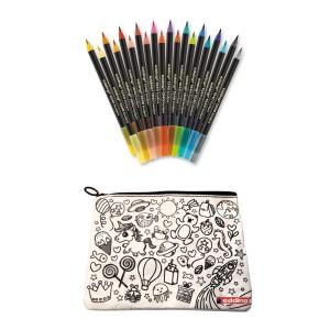Edding Kalemkutu Hediyeli 1340 Brushpen Fırça Uçlu Kalem 20 Renk