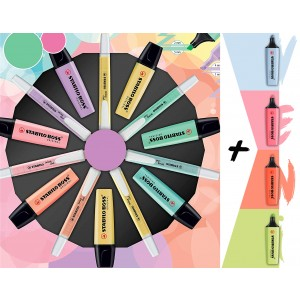 Stabilo 4 Yeni Pastel + 14'lü Pastel Renkler Seti Boss Original ve Swing Cool