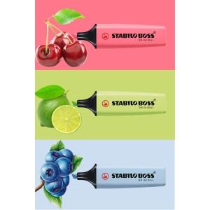 Stabilo Boss Yeni Pastel Renkler 3'lü Set (Lime-Azure-Cherry)