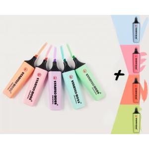 4 Yeni Pastel + 5 Pastel Renk 9lu Stabilo Original