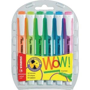 Stabilo Swing Cool Fosforlu İşaretleme Kalemi 6 CANLI Renk