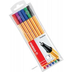 Stabilo Point 88 Fineliner Keçeli Renkli Kalem 0.4 mm 6'lı Paket