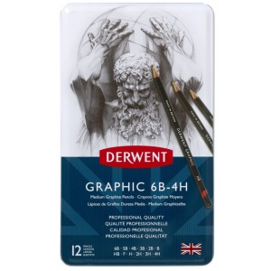DERWENT GRAPHİC DERECELİ KALEM SETİ MEDİUM
