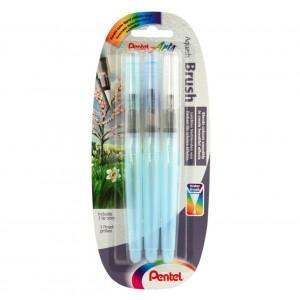 Pentel Aqua Brush 3'lü Su Hazneli Fırça (Fine, Medium, Broad)