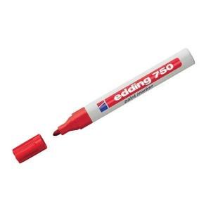 Edding 750 Boya Dekorasyon Markörü  2-4 mm Yuvarlak Uçlu Kalem Kırmızı