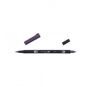 TOMBOW DUAL BRUSH PEN GRAFİK ÇİZİM KALEMİ DARK PLUM 679