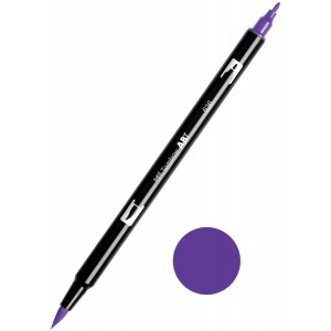 TOMBOW DUAL BRUSH PEN GRAFİK ÇİZİM KALEMİ IMPERİAL PURPLE 636