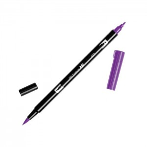 TOMBOW DUAL BRUSH PEN GRAFİK ÇİZİM KALEMİ 676 ROYAL PURPLE