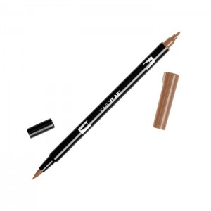TOMBOW DUAL BRUSH PEN GRAFİK ÇİZİM KALEMİ SADDLE BROWN - 977