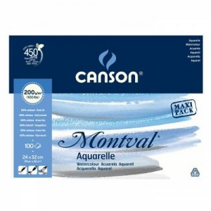 CANSON MONTVAL PAD CANMONTV 12S 24X32 300G