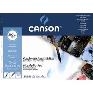 CANSON RESİM BLOK 200GR 25X35 15YP 200152535