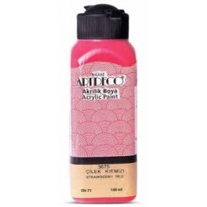 Artdeco Akrilik Boya 140ml Çilek Kırmızı 3675
