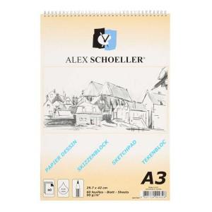 Alex Schoeller Spiralli Eskiz Blok 90Gr A3 60 Yp