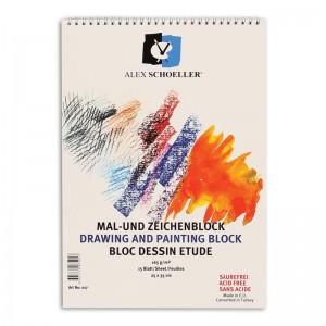 Alex Schoeller Artist-25X35 Çizim Resim Bloğu Spiralli 165 G