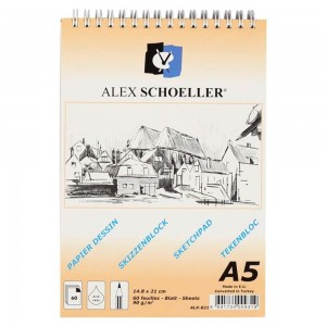 Alex Schoeller Spiralli Eskiz Blok 90Gr A5 60 Yp