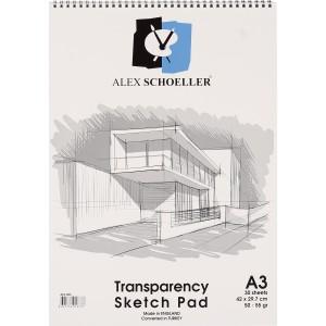 Alex Schoeller Spiralli Eskiz Blok 50/55Gr. A3 30Ypr.