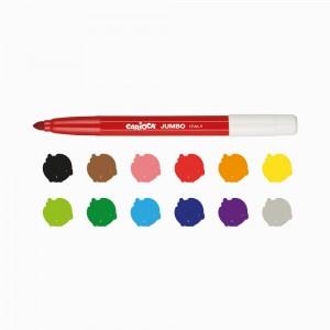 Carioca Jumbo Süper Yıkanabilir Kalın Keçeli Boya 12 Renk