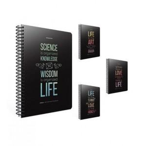 Life Book Spiralli Karton Kapak Defter 19X26 100 Yaprak Kareli