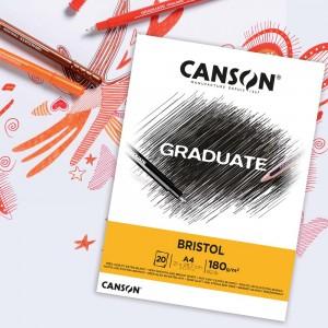 Canson Gradute Brıstol A4 180 gr 20 Yaprak