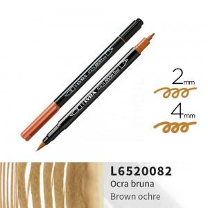 Lyra Aqua Brush Duo Çift ve Fırça Uçlu Çizim Kalemi - Brown Ochre