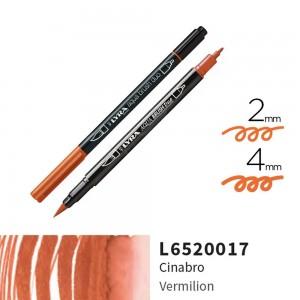 Lyra Aqua Brush Duo Çift ve Fırça Uçlu Çizim Kalemi - Vermilion