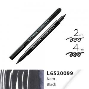 Lyra Aqua Brush Duo Çift ve Fırça Uçlu Çizim Kalemi - Black