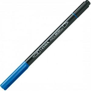 Lyra Aqua Brush Duo Çift ve Fırça Uçlu Çizim Kalemi - Prussian Blue