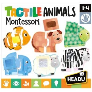 Headu Tactile Animals Montessori (1-4 Yaş)