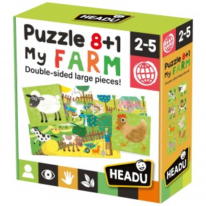 Headu Puzzle 8+1 Farm (2-5 Yaş)