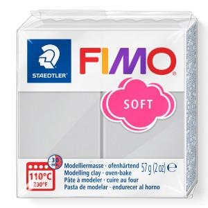 Fimo Modelleme Kili (Polimer Kil) Soft Yunus Gri 57 Gr. - 80
